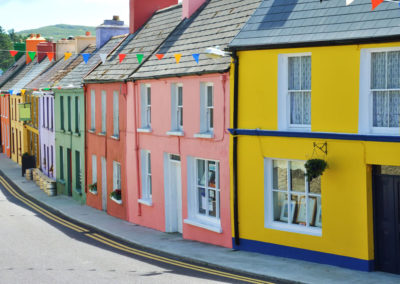 Colorful Houses Along the Ring of Beara, Co. Kerry