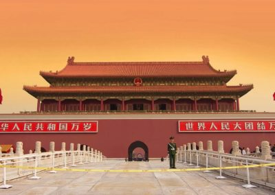 Gate of Heavenly Peace Overlooking Massive Tiananmen Square