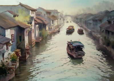 """Suzhou with its Canals on the Yangtze Delta is the """"Venice of the East"""""""