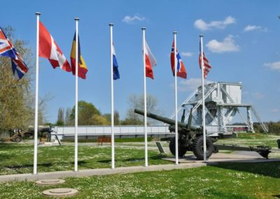 Pegasus Bridge in the Village of Benouville in Normandie