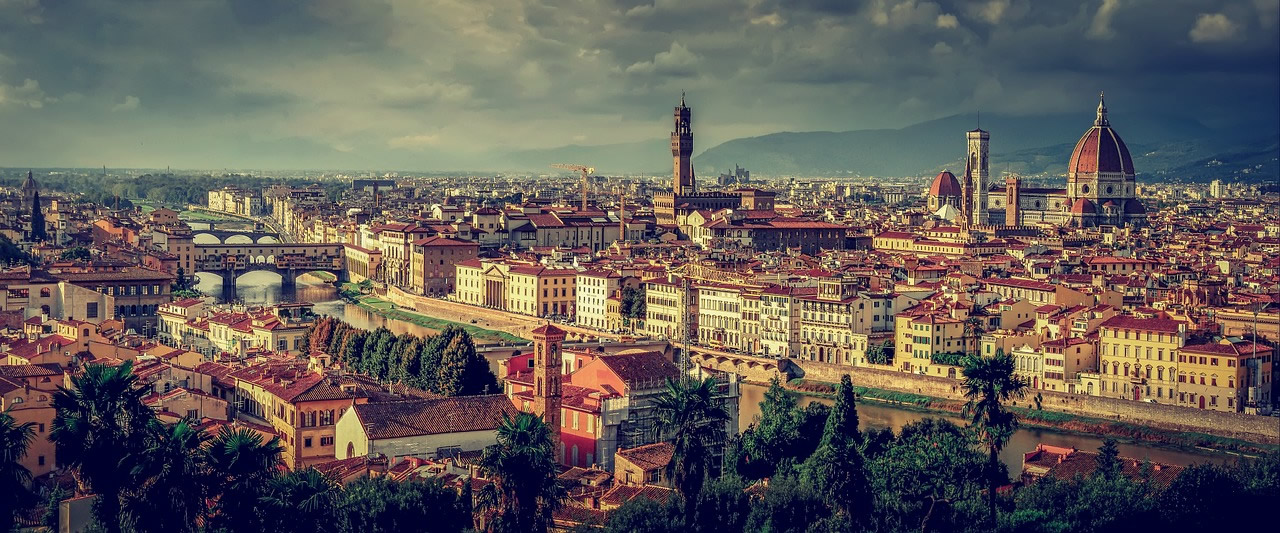 Panorama of Florence (Firenze) Italy