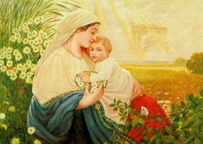 Beautiful but disturbing Madonna because the artist was A.Hitler