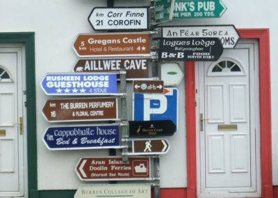 Irish sign posts